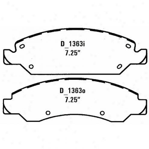 Wearever Silver Brake Pads Silver - Nad 1363