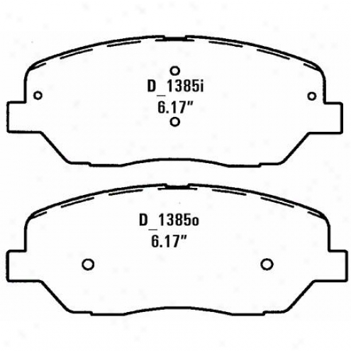Wearever Silver Brake Pads Silver - Nad 1385/nad 13