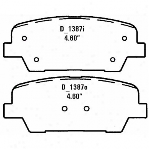 Wearever Sil\/er Brake Pads Silver - Nad 1387