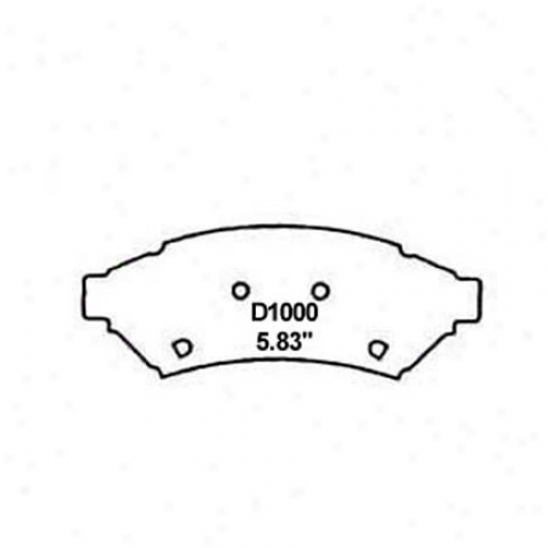 Wearever Silver Brake Pads/shoes - Front - Mkd 1000