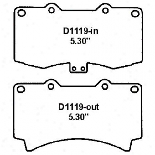 Wearever Silver Brake Pads/shoes - Front - Mkd 1119
