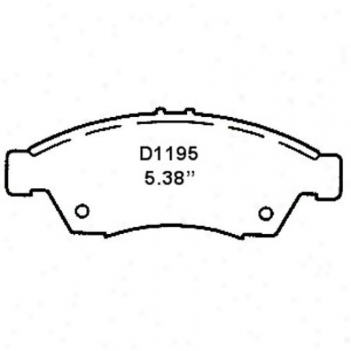Wearever Silver Brake Pads/shoes - Front - Mkd 1195