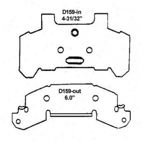 Wearever Silver Brake Pads/shoes - Front - Mkd 159