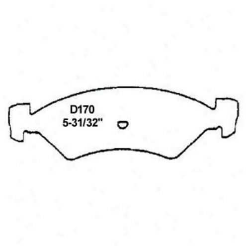 Wearever Silver Brake Pads/shoes - Front - Mkd 170