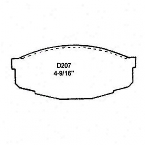 Wearever Silver Brake Pads/shoes - Front - Mkd 207