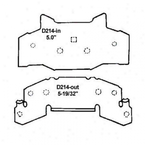 Wearever Silver Brake Pads/shoes - Front - Mkd 214