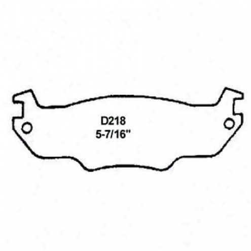 Wearever Silver Brake Pads/shoes - Forepart - Mkd 218/mkd 218