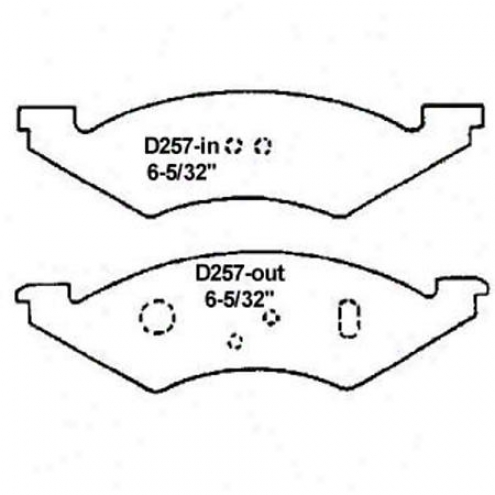 Wearever Silver Brake Pads/shoes - Front - Mkd 257