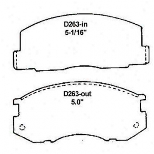 Wearever Silver Brake Pads/shoes - Front - Mkd 263/mkd 23