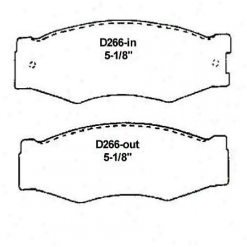 Wearever Silver Brake Pads/shoes - Frony - Mkd 266