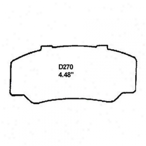 Wearever Silver Brake Pads/shoes - Anterior - Mkd 270