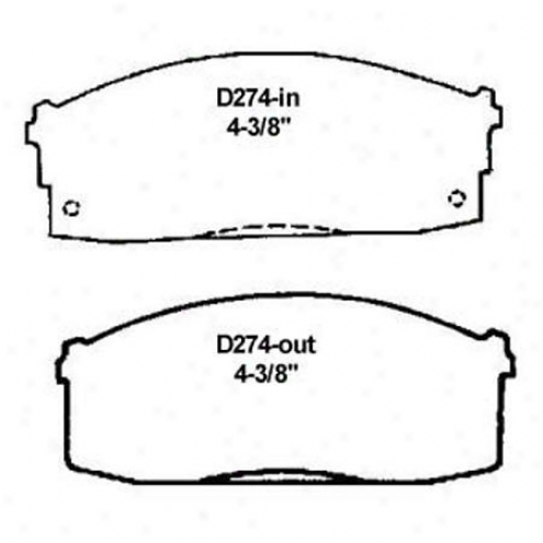 Wearever Silver Brake Pads/shoes - Front - Mkd 274