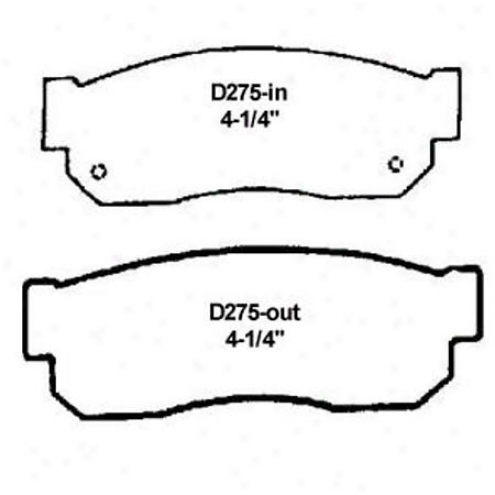 Wearever Silver Brake Pads/shoes - Front - Mkdd 275