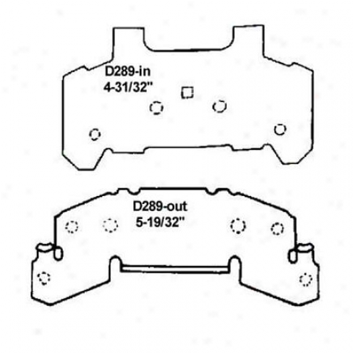 Wearever Silver Brake Pads/shoes - Front - Mkd 289
