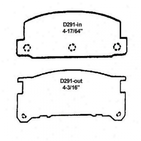 Wearever Silver Brake Pads/shoes - Front - Mkd 291