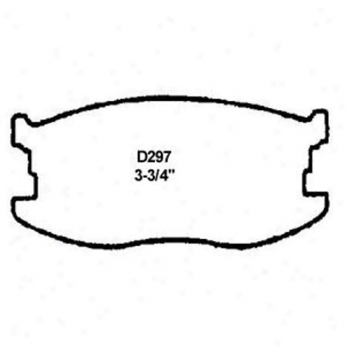 Wearever Silver Brake Pads/qhoes - Front - Mkd 297/mkd 297