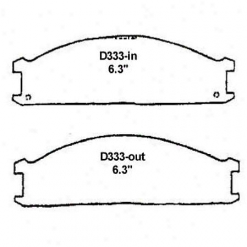 Wearever Silver Brake Pads/shoes - Front - Mkd 333