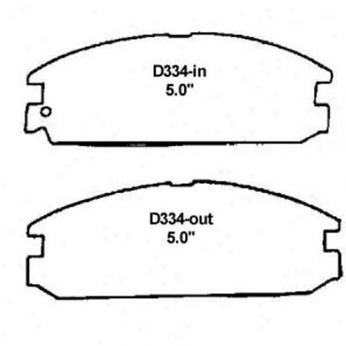 Wearever Silver Brake Pads/shoes - Front - Mkd 334