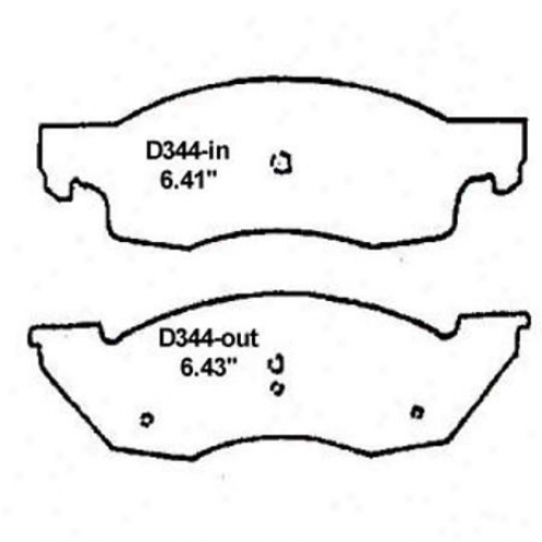 Wearever Silver Brake Pads/shoes - Front - Mkd 344a