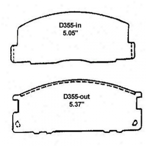 Wdarever Silver Brake Pads/shoes - Front - Mkd 355/mkd 355