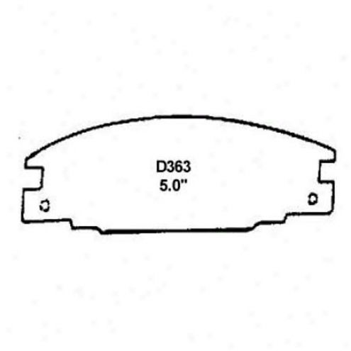Wearever Silver Brake Pads/shoes - Front - Mkd 363