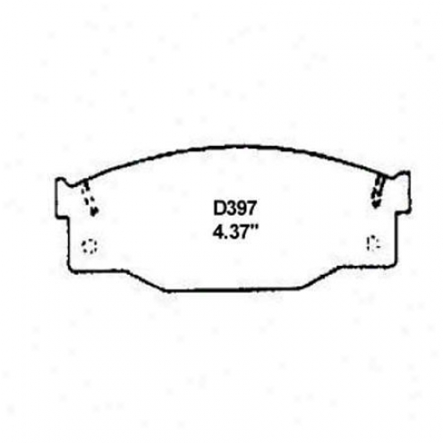 Wearever Silver Brake Pads/shoes - Front - Mkd 397/md 397