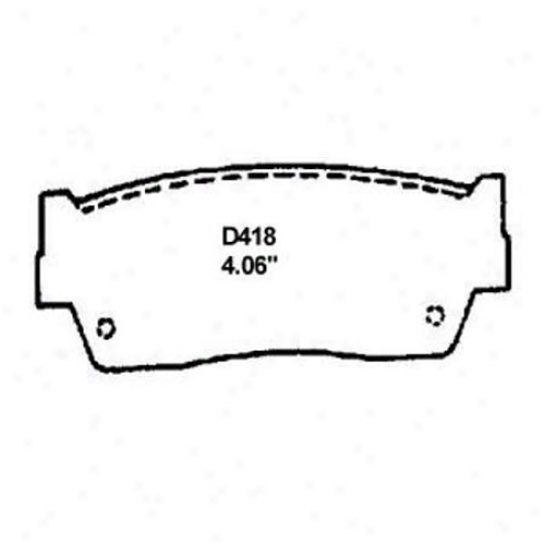 Wearever Silver Brake Pads/shoes - Front - Mkd 418