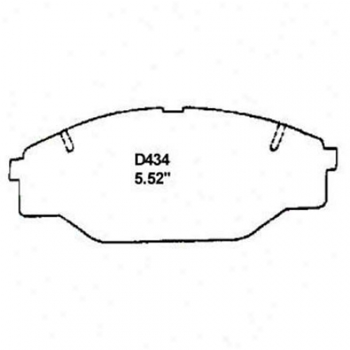 Wearever Silver Brake Pads/shoes - Front - Mkd 434