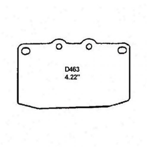 Wearever Gentle Brqke Pads/shoes - Front - Mkd 463