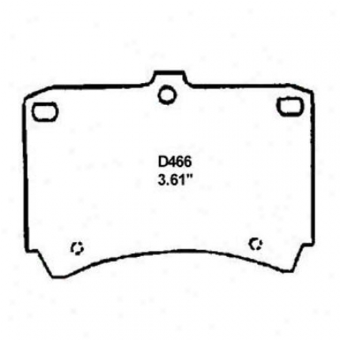 Wearever Silver Brake Pads/shoes - Front - Mkd 466