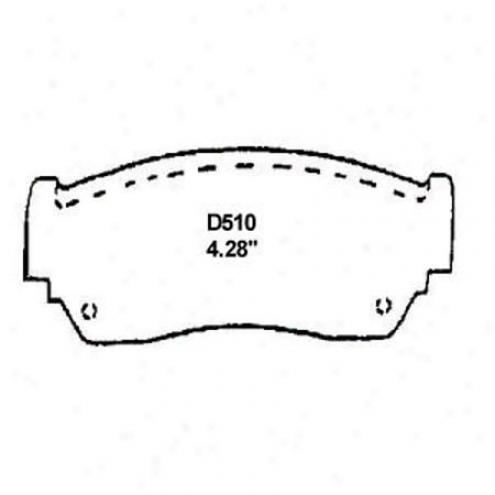 Wearever Gentle Brake Pads/shoes - Front - Mkd 510