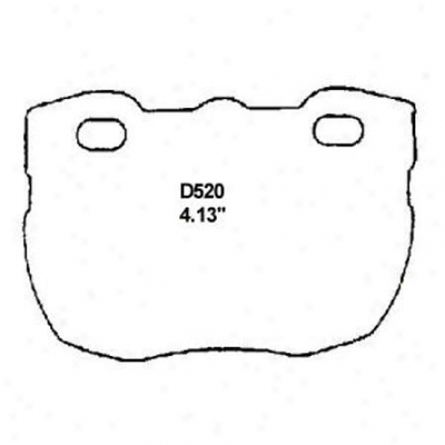 Wearevet Silver Brake Pads/shoes - Front - Mkd 520/mkd 520