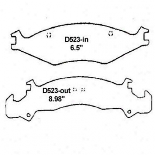 Wearever Silver Brake Pads/shoes - Front - Mkd 523