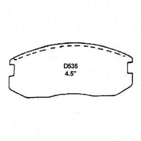 Wearever Silver Brake Pads/shoes - Front - Mkd 535