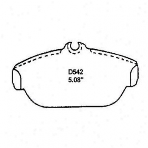 Wearever Silver Brake Pads/shoes - Front - Mkd 542/mkd 452