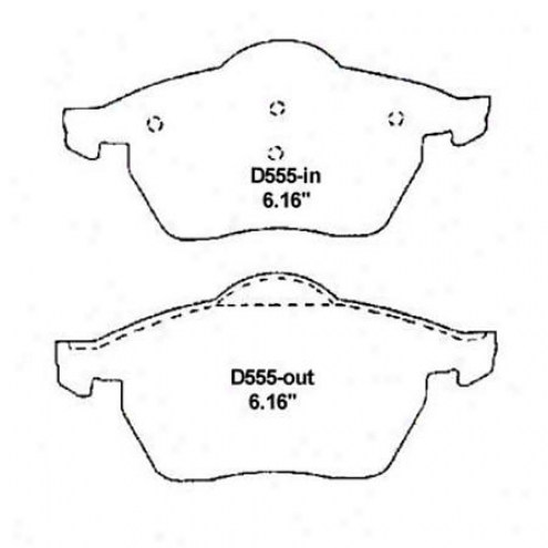 Wearever Sillver Brake Pads/shoes - Front - Mkd 555/mkd 555