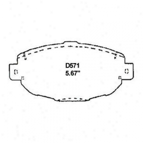 Wearever Silver Brake Pads/shoes - Front - Mkd 571
