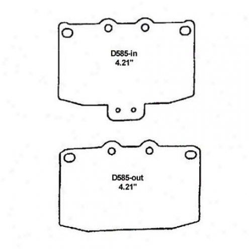 Wearever Silver Brake Pads/shoes - Forepart - Mkd 585/mkd 585