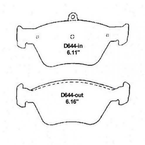Wearever Silver Brake Pads/shoes - Fronf - Mkd 644