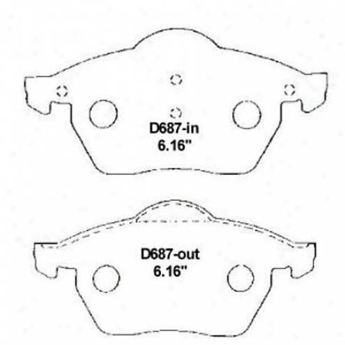 Wearever Silver Brke Pads/shoes - Front - Mkd 687/mkd 687