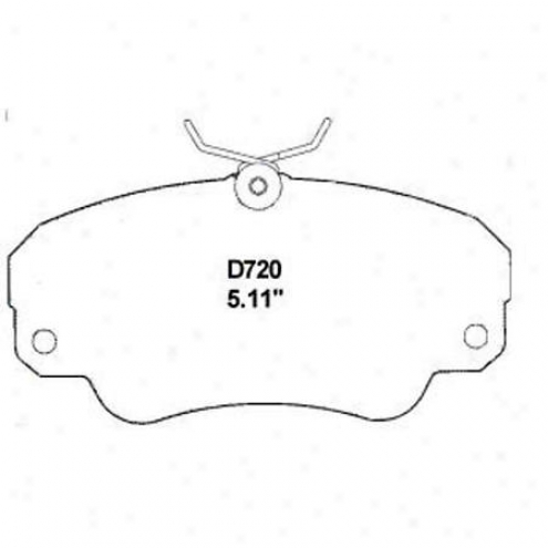 WeareverS illver Brake Pads/shoes - Front - Mkd 720