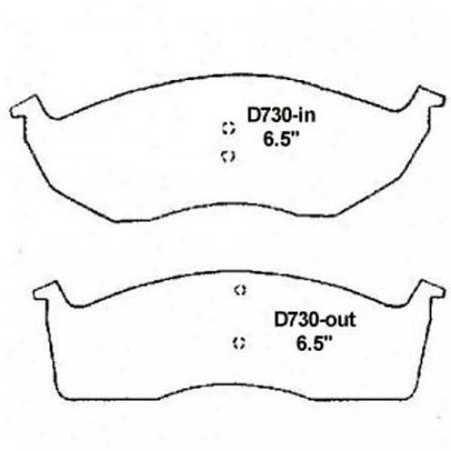 Wearever Silver Brake Pads/shoes - Front - Mkd 730/mkd 730