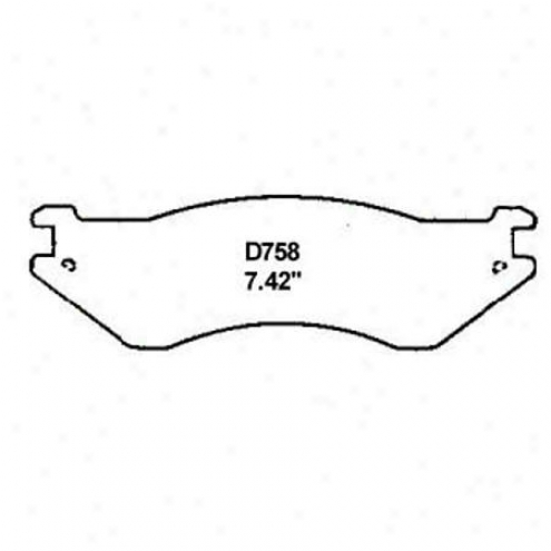 Wearever Silver Brake Pads/shoes - Fr0nt - Mkd 758