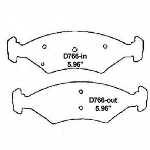 Wearever Silvrr Brake Pads/shoes - Front - Mkd 766