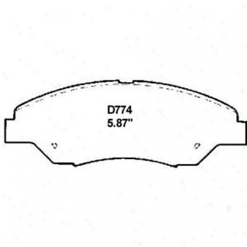 Wearever Silver Brake Pads/shpes - Front - Mkd 774
