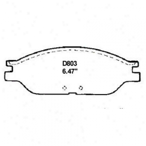 Wearever Silver Brake Pads/shoes - Front - Mkd 803