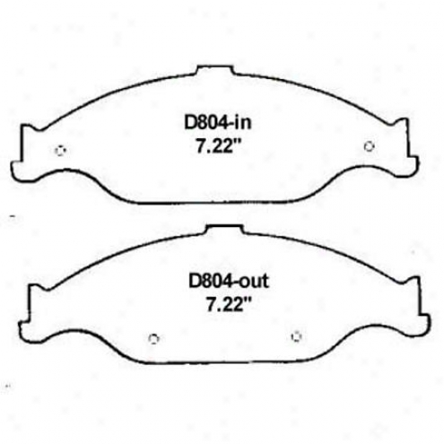 Wearever Silver Brake Pads/shoes - Front - Mkd 804