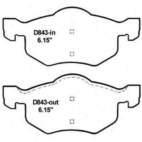 Wearever Silver Brake Pads/shoes - Front - Mkd 843