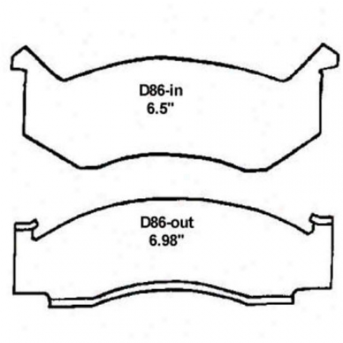 Wearever Silver Brake Pads/shoes - Front - Mkd 86