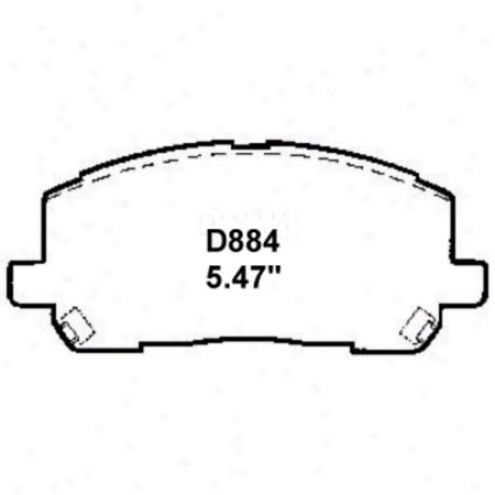 Wearever Silvery Brake Pads/shoes - Front - Mkd 884